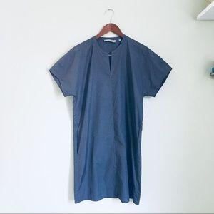 Vince short sleeves cotton shift dress size XS